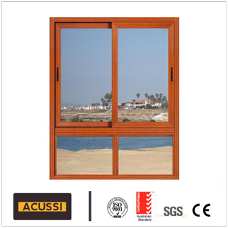 Insulation Aluminium 3-Track Broken Bridge Sliding Window with Mosquito Net for House Hall