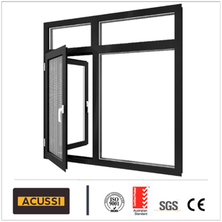 Aluminium Combined Airproof Casement Window with Grills/Mosquito Net