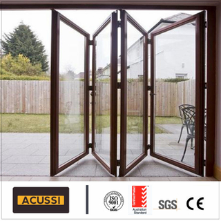 ODM Aluminium Folding Door Soundproof Security Exterior Door for House Project