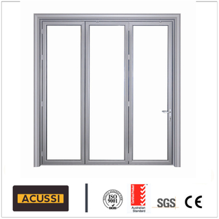 Australian As2047 Standard High-End Aluminum Bi-Folding Door with Double Glazed Glass