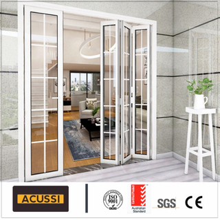 Competitve Price Bifold Interior Aluminium Heavy Folding Door Sound-Proof for Villa House Hotel Building Project with Australia As2047