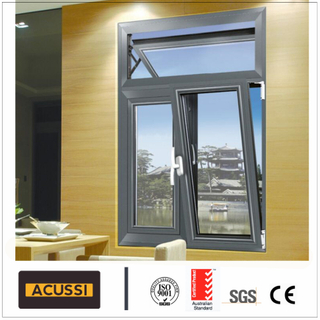 Aluminium Top/Down Hung Window Casement Window for Villa/House Project